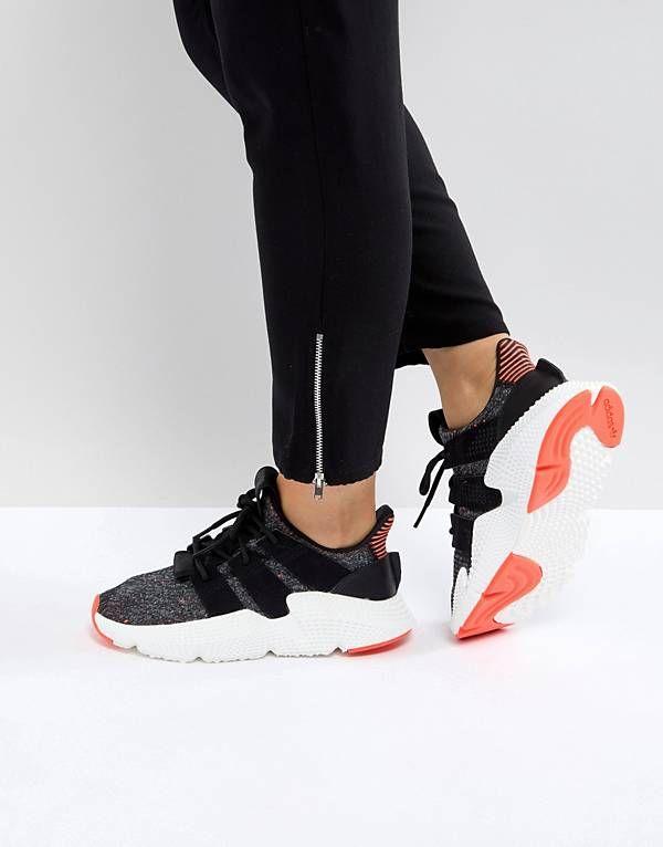 adidas Originals Prophere Sneakers In Black And Pink   ºSHOESº ... 9569c1bede10