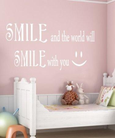 Amazon.com: Vinyl Wall Decal Sticker Smile Smile Quote #GFoster183: Home Improvement