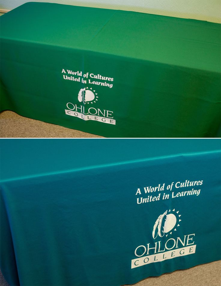 Tablecloths for your events - they come in two colors, teal and green.  Fits standard fold-out tables.