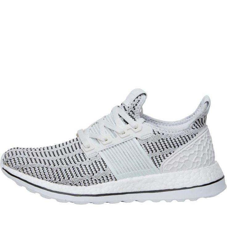 adidas Pure Boost ZG Ltd Primeknit Neutral Running Shoes Crystal White/White/Black