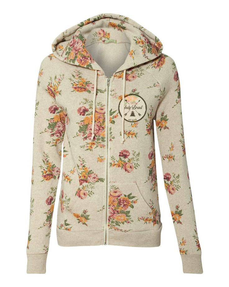 The Patch Floral Women's Zip-Up Hoodie