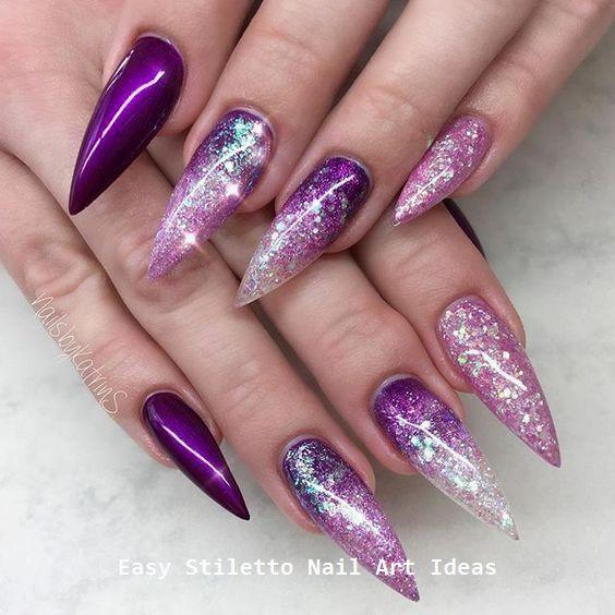 30 Ideen für großartige Stiletto-Nageldesigns #stilettonails #naildesigns – Stiletto Nails