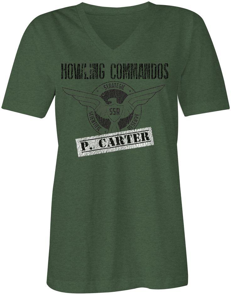 Agent Carter Inspired Women's V Neck Tee