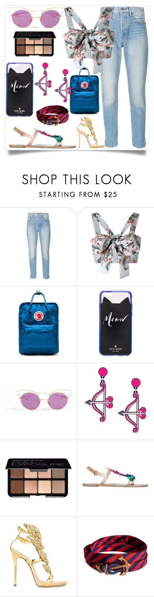 """fashion for women's"" by denisee-denisee ❤ liked on Polyvore featuring Frame, Zimmermann, Fjällräven, Kate Spade, Dita, Yazbukey, Smashbox, Sophia Webster, Giuseppe Zanotti and Brooks Brothers"