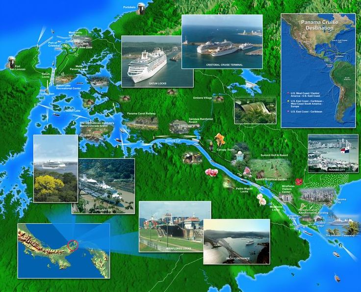 Panama Canal - Gatun Lake to Balboa.
