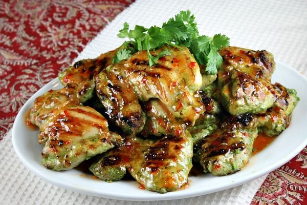 Sharing recipe for Cilantro Chicken- a 5 ingredient recipe. Photographs included.