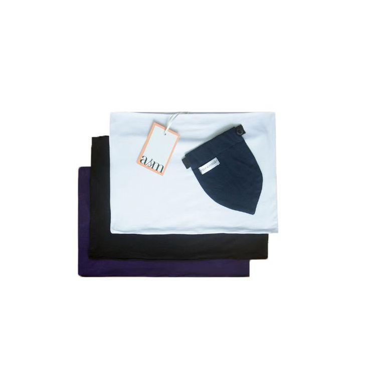 Kit SOS Barriga vai salvar suas calças durante a gravidez. Super confortável feito em algodão, protege sua pele do zíper e esconde tudo com uma faixa que vai segurar também sua barriga.