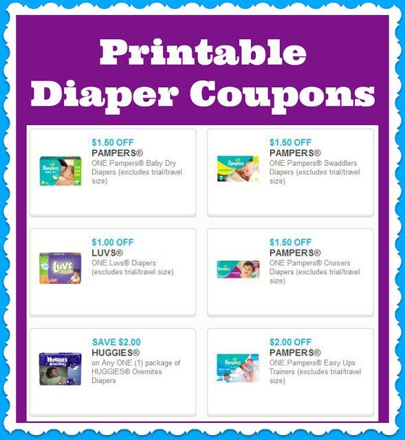 Diaper discount coupons