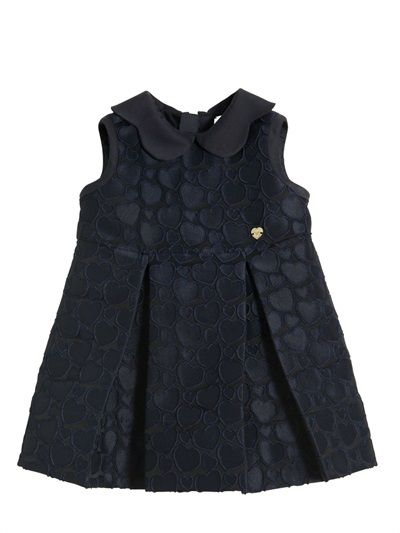 EMBOSSED HEART JACQUARD PARTY DRESS
