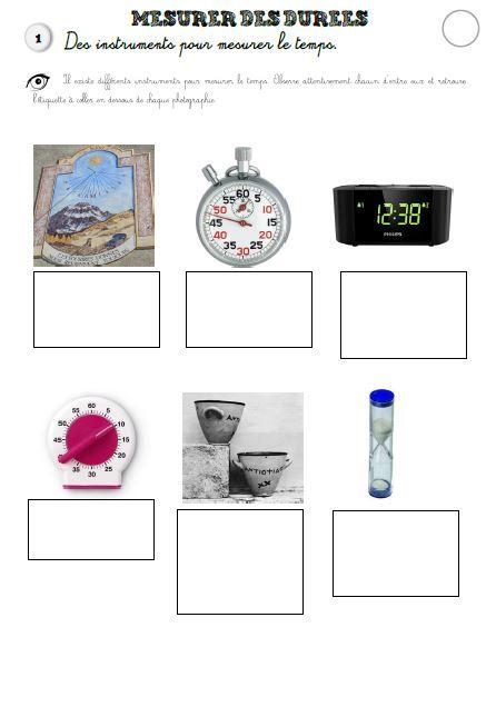 DDM – Le temps – Mesurer les durées » Alex à l'école