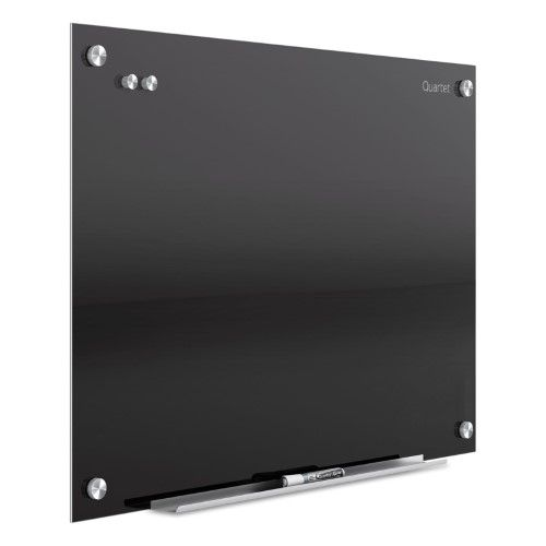 Quartet Infinity Magnetic Glass Dry Erase Board, Black, 36 x 24 Inch | Jet.com