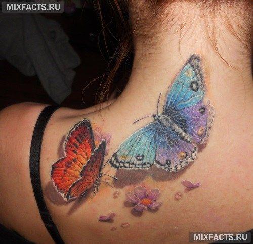 Татуировка бабочка - значение, эскизы тату и фото