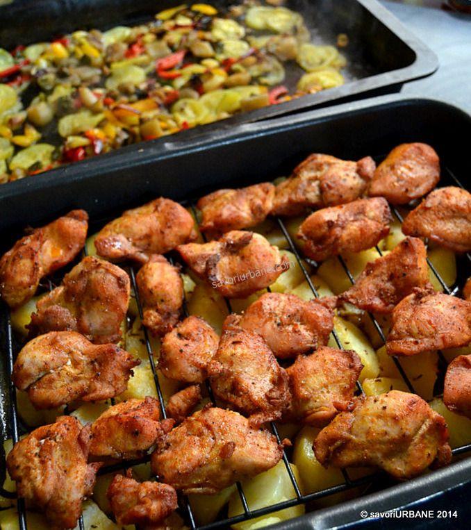 Curcan-pui-cartofi-rumeni-legume-coapte-tava (8)
