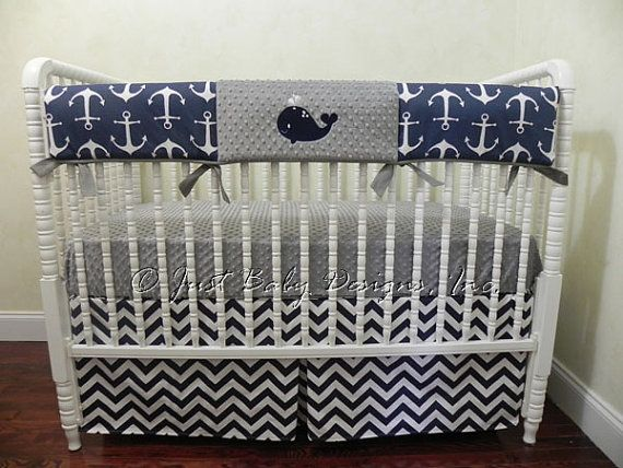 84 best baby boy bumperless crib bedding images on pinterest