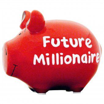 #design3000 Future Millionaire – Keramik-Sparschwein.