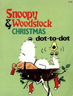 Snoopy & Woodstock Christmas dot-to-dot book 1980s