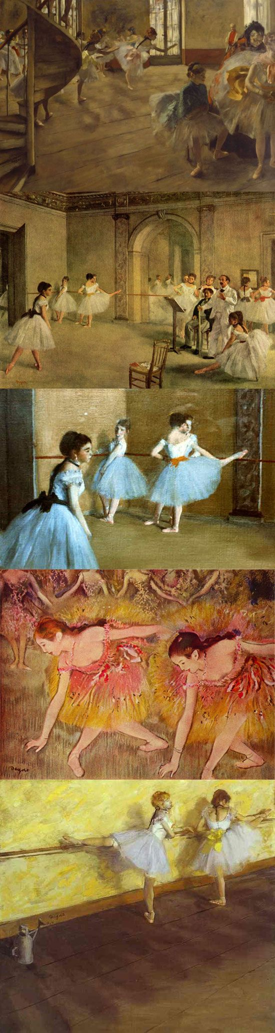 Lovely Degas ballet series makes me want a print to grace one of my walls.