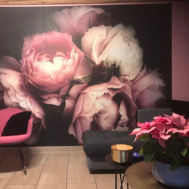 Dutch Vintage Floral Wallpaper Mural Remove Dark Floral Etsy Large Flower Wallpaper Vintage Floral Wallpapers Black Floral Wallpaper