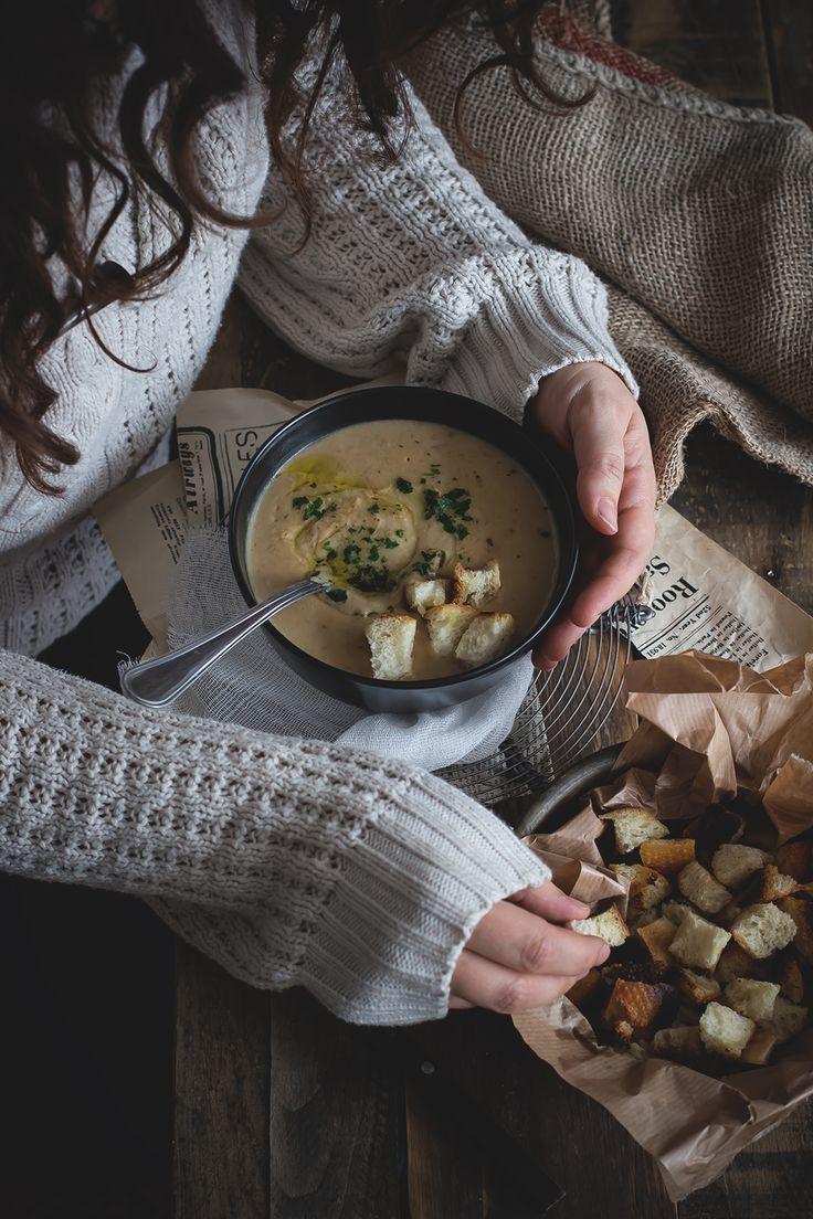 Vellutata di patate, funghi porcini e cannellini