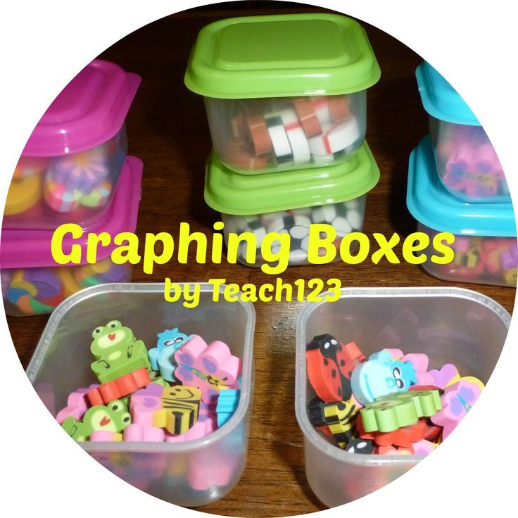 Math Center: Graphing Boxes - easy way to add seasonal fun to your math centers. #graphing. $
