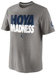 Georgetown hoyas nike basketball madness t shirt hoya for I love basketball nike shirt