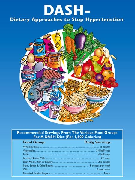 Dash Diet Guidelines Handout For Hypertension Patients And