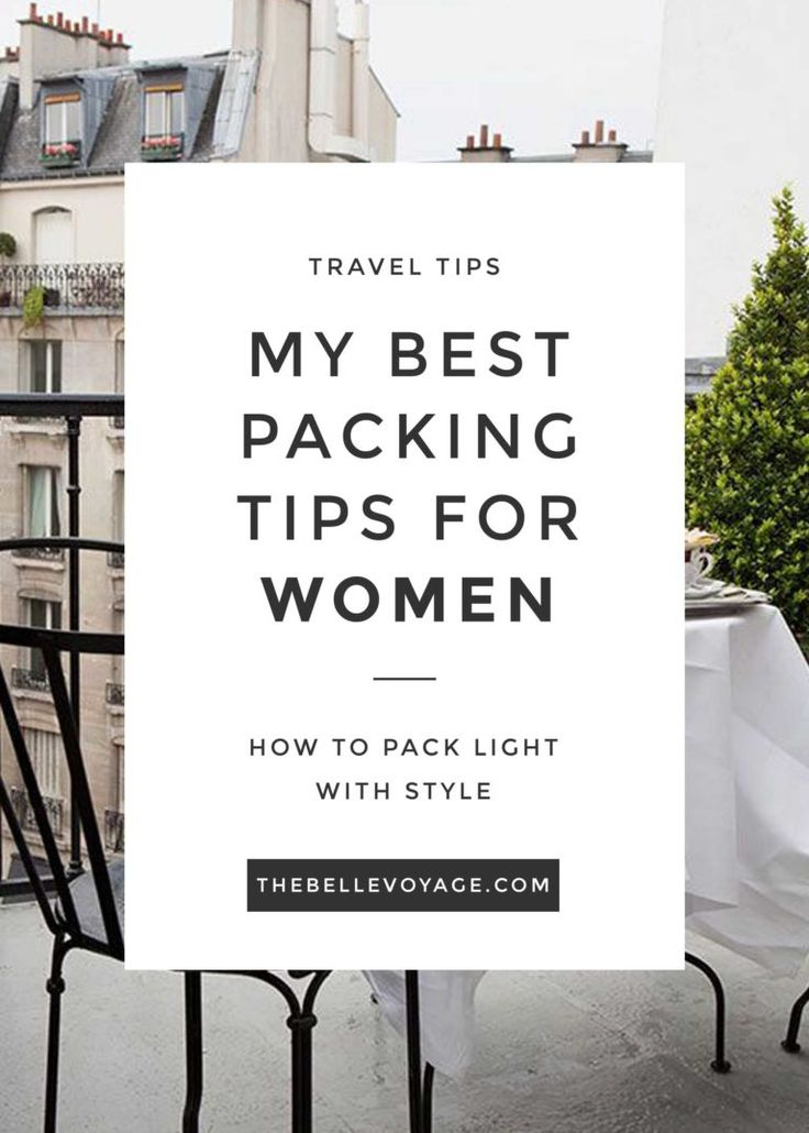 best packing tips for women
