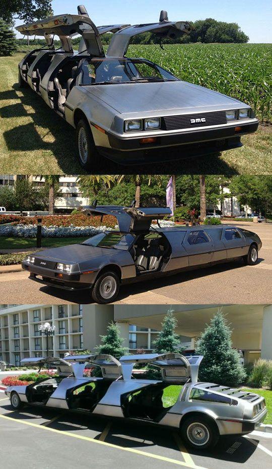 Une limousine à bese de 3 Deloreans