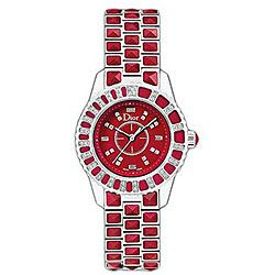 Christian Dior Women's Christal Red Sapphire and Diamond Watch