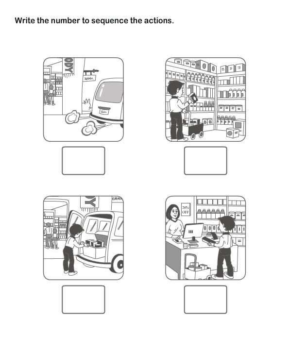 Print And Learn Picture Sequence Worksheets Free
