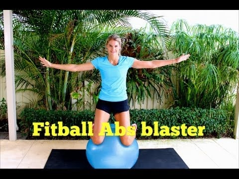 Fit ball abs workout 15 mins Core strength