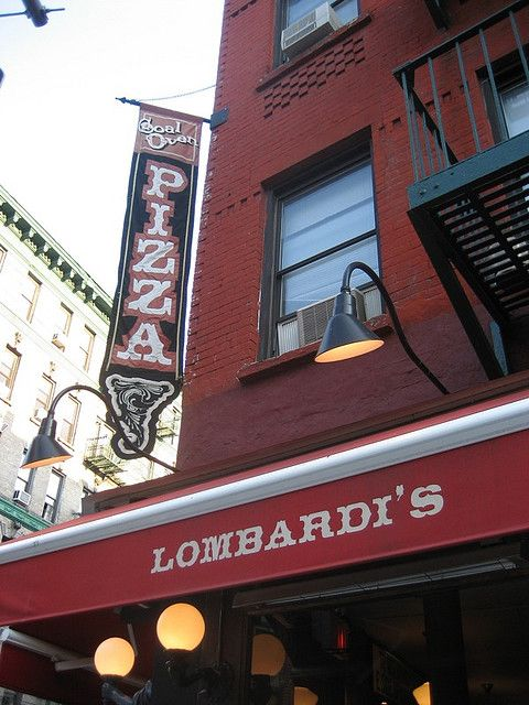 Where is America's first pizzeria?  Lombardi's, licensed by NYC in 1905. The restaurant offered the first New York style pizza and is still open today. Touristy, maybe but what a great story! (Lombardis, corner of  Spring and Mott Street)