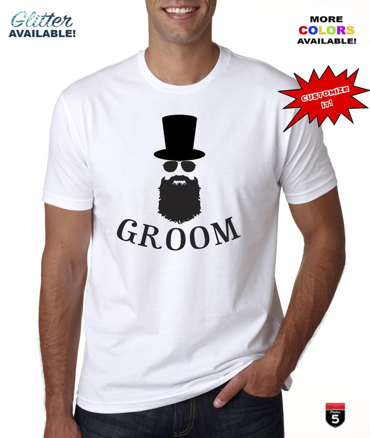 Custom Bride Groom original design cotton t-shirt cotton perfect gift personalized t-shirt apparel groom bow tie tee Beard guy ! by Creation5Official on Etsy