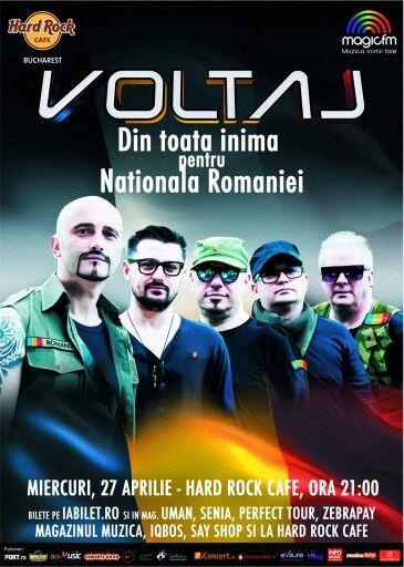 Miercuri, 27 aprilie, ora 21.30 – Concert VOLTAJ la Hard Rock Cafe Bucharest, unde Călin Goia şi colegii săi te aşteaptă la un show de zile mari, în care vei regăsi cele mai îndrăgite compoziţii ale trupei.  See More >> http://www.vipstyle.ro/Eveniment_Concert_VOLTAJ