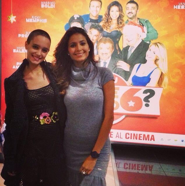 "The young actress Denise Tantucci wearing Maria Grazia Severi and Mariana Rodriguez at the presentation of the movie ""Ma tu di che segno sei?"" in Rome."