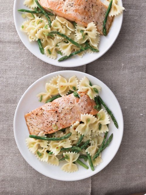 Image via We Heart It #fish #food #pasta #salmon #seafood