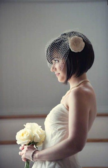 Wedding Hairstyles For Short Hair                                                                                                                                                                                 More