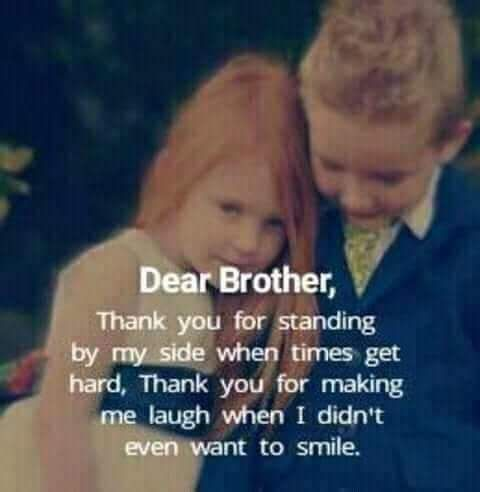 The bond of a brother and sister is stronger than any one could know