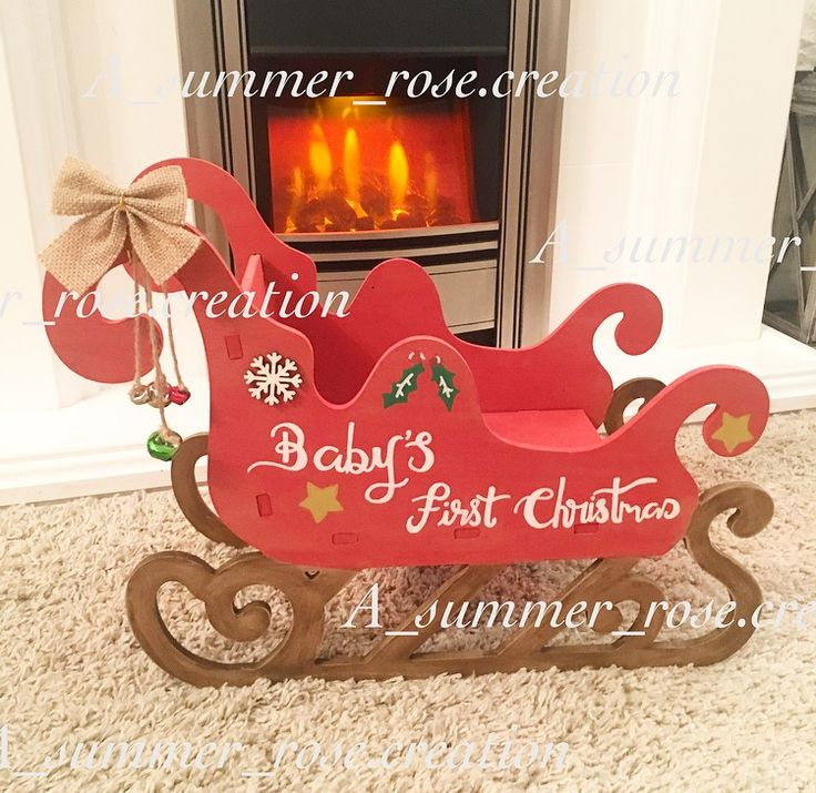 Christmas Eve box, Christmas Eve sleigh, Christmas gift, personalised Christmas gift, baby's first Christmas, Christmas sleigh, sleigh, sleigh bells, home decor, Christmas decor, Christmas decor inspo.