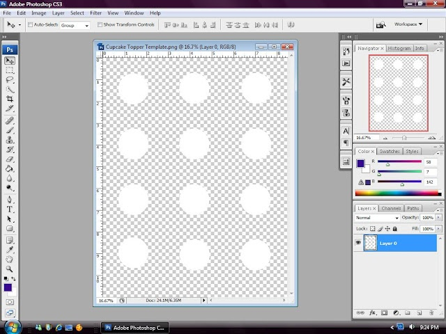Blank template for creating your own cupcake toppers