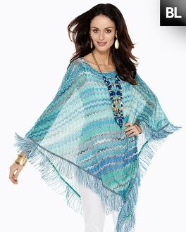 Chico's Black Label Zig Zag Poncho #chicos
