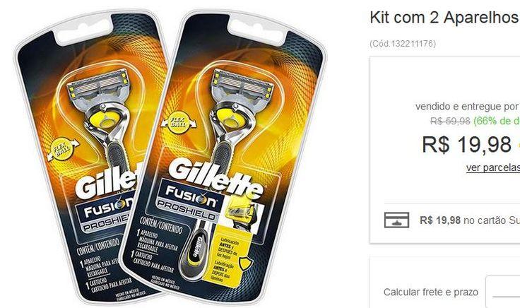 Kit com 2 Aparelhos De Barbear Gillette Fusion Proshield << R$ 1998 >>