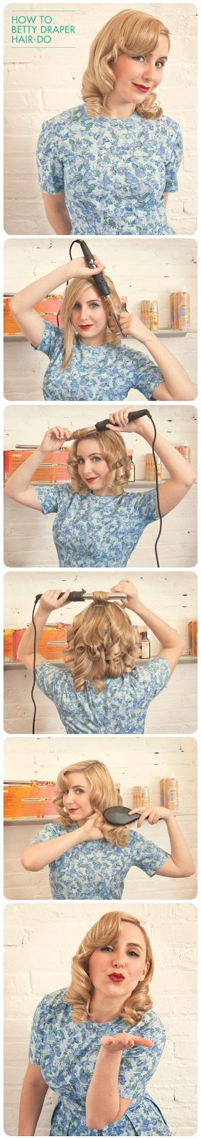LOVE YOUR HAIR: HOW TO: BETTY DRAPER DO