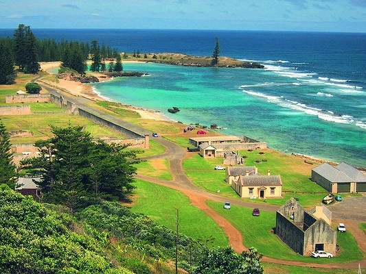 Emily Bay and Kingston. Norfolk Island.