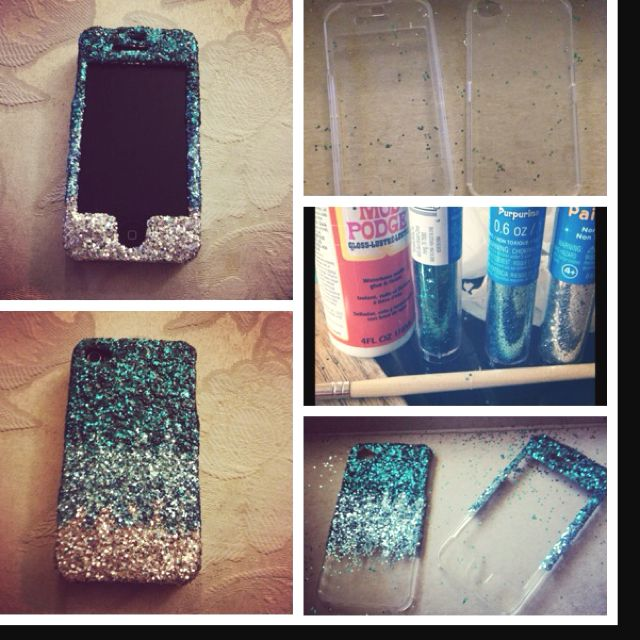 I made this case. It's not hard at all and it's super cute. DIY ombre glitter phone case