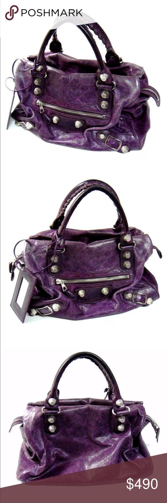 Balenciaga giant city bag purple 💯 authentic Balenciaga giant city purple bag! Good condition! Comes with original dustbag 💖 Balenciaga Bags Satchels