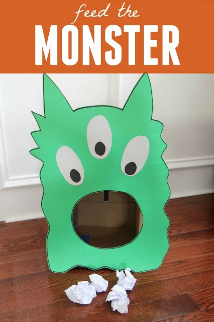 feed the monster game for toddlers - Halloween Party Games Toddlers