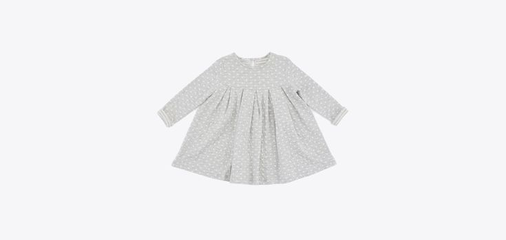 GW18407-18 Pois dress /color grey and white