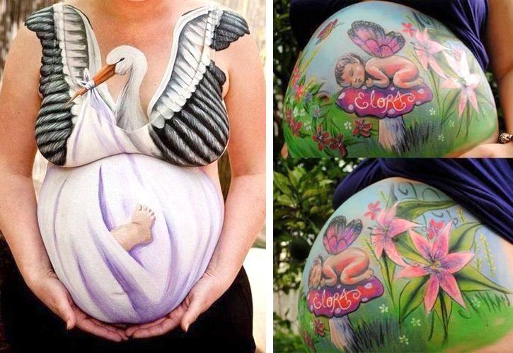 Você sabe o que é arte gestacional? Conheça a técnica de pintura corporal na barriga de grávidas, veja como e onde fazer. Veja as 80 fotos mais lindas!