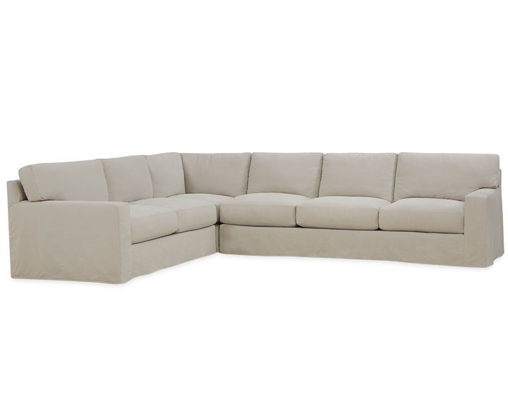 Slipcovered sectional sofa c7922 series lee industries for Whitten 2 piece sectional sofa